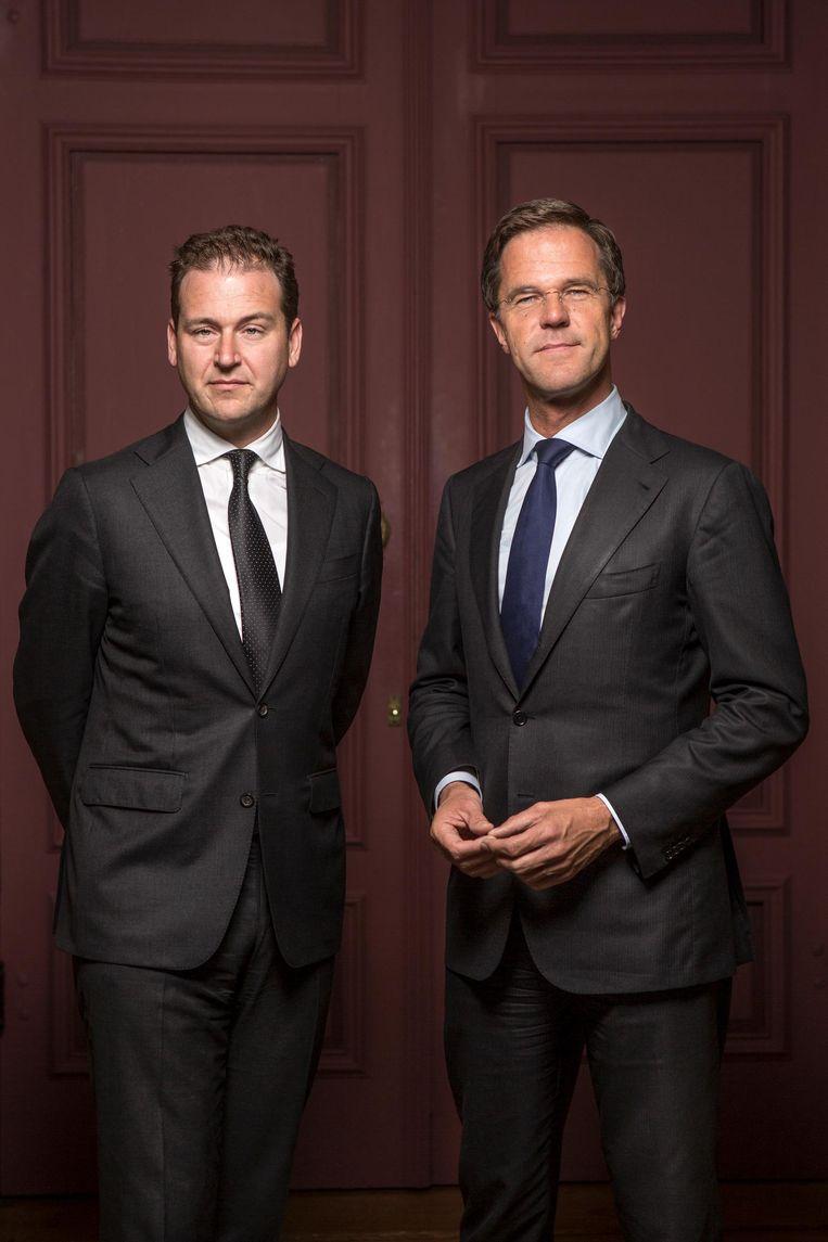 Lodewijk Asscher en Mark Rutte. Beeld Mike Roelofs