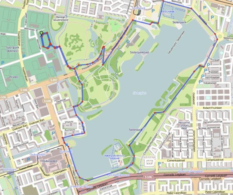 Looproute 7,5 kilometer Beeld Mokumsevrouwenloop.nl