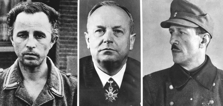 De Drie van Breda van links naar rechts: Kotälla, Fischer en Aus der Fünten.  Beeld ANP