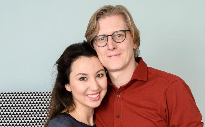 Nuria met haar man Stijn.