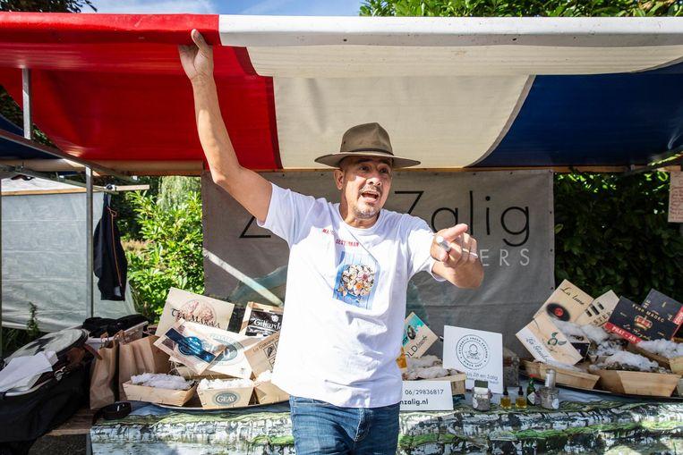 Marcus van den Noord van Zilt & Zalig: 'Een oester is een gezelschapsdier, die eet je niet alleen' Beeld Dingena Mol