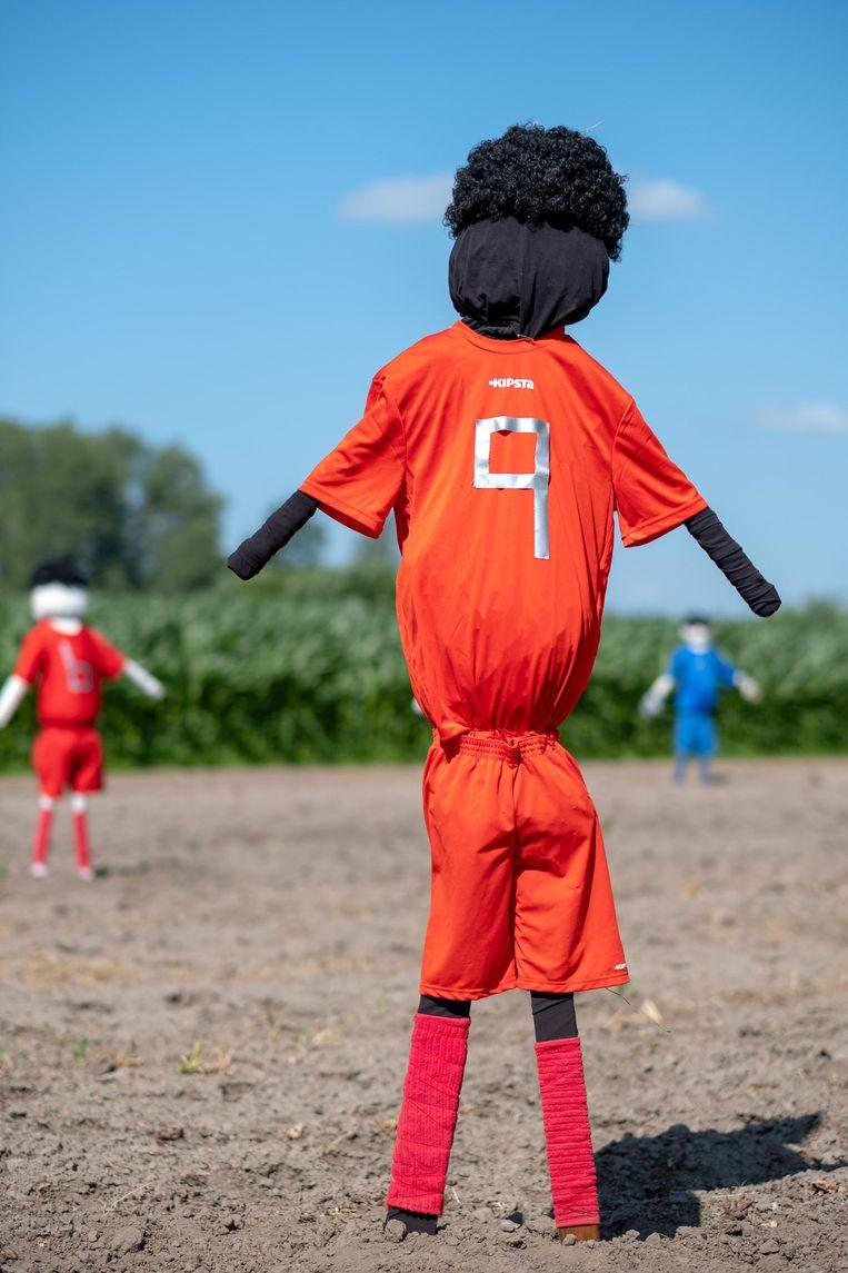 Romelu Lukaku scoort ook op het maïsveld met zijn goede looks.