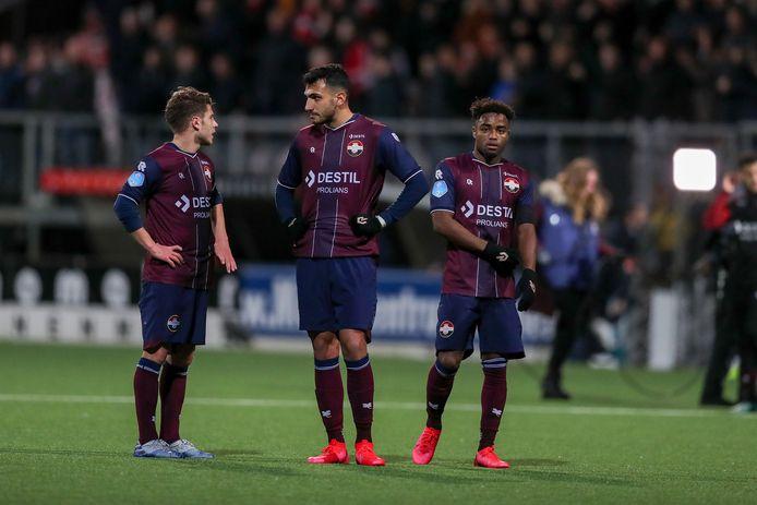 Teleurgestelde spelers van Willem II