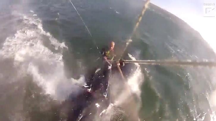 Man heeft botsing met walvis