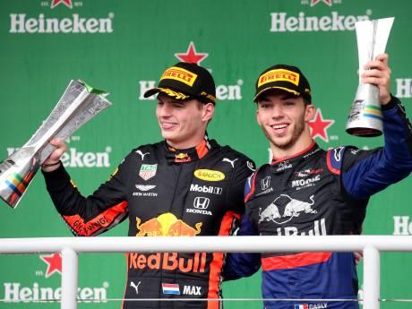Verstappen wint bizarre GP van Brazilië, Gasly eindigt als tweede en Ferrari's klappen bovenop elkaar