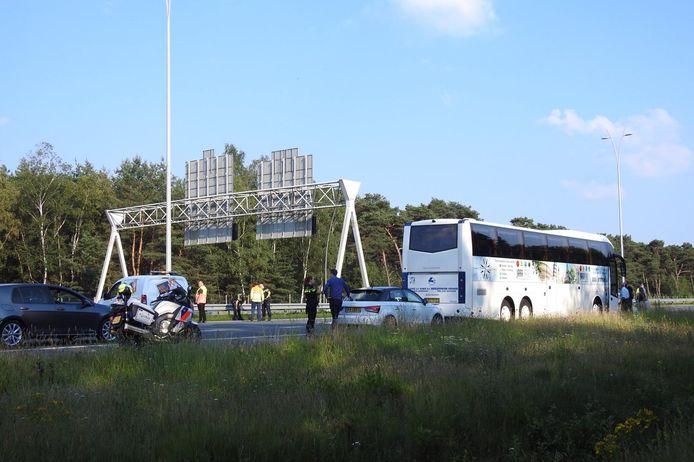 Ongeluk op A2 bij Waalre