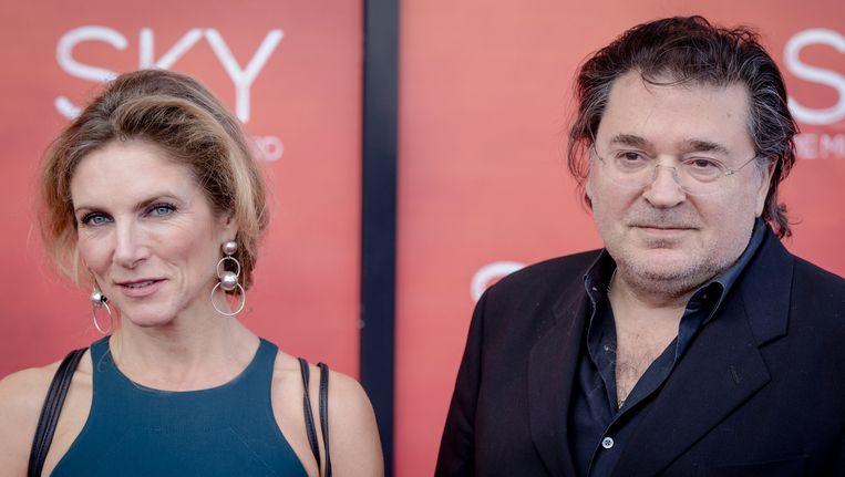 Jessica Durlacher met haar partner Leon de Winter. Beeld anp