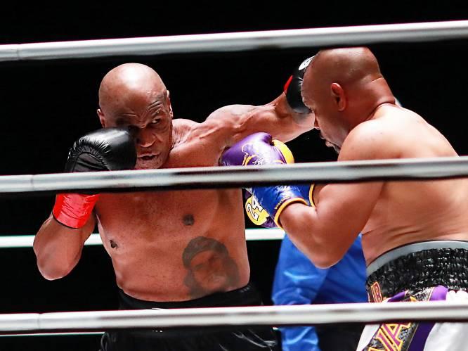 """Topfitte Mike Tyson (54) haalt bij onbesliste comeback uit als vanouds: """"Als hij je raakt, doet alles pijn"""""""