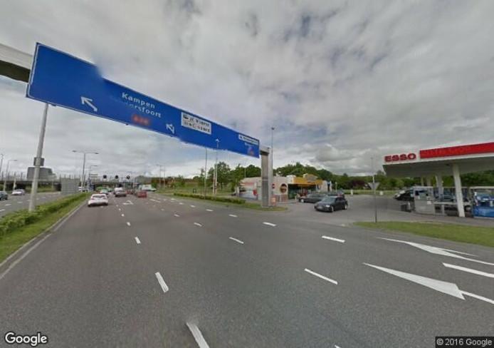 Het eind van de Ceintuurbaan in Zwolle. Foto: Google Streetview
