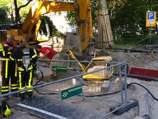 Graafmachine raakt gasleiding, Wassenaarseweg kort afgesloten