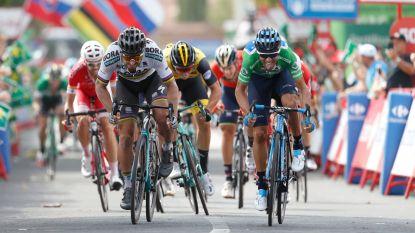 Oudgediende Valverde steekt wereldkampioen Sagan de loef af na beklijvende spurt op hellende aankomst