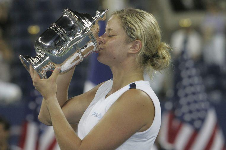 Kim Clijsters won in 2005 voor het eerst de US Open.