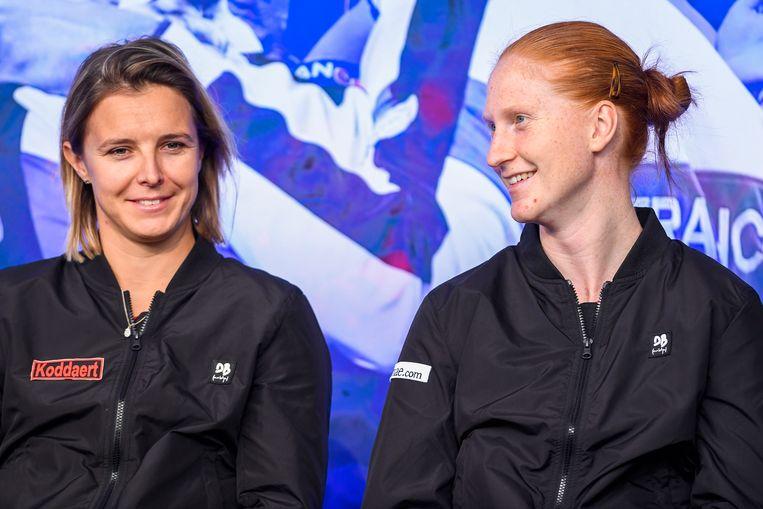 Kirsten Flipkens en Alison Van Uytvanck.