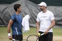 Novak Djokovic en coach Goran Ivanisevic, archieffoto.