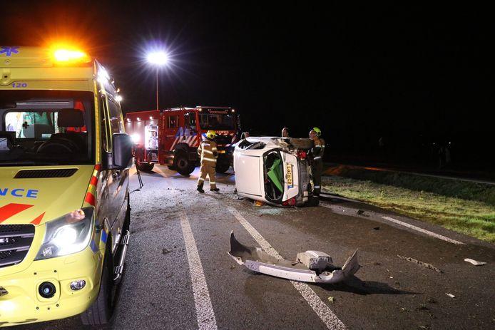 Vanavond vond er een eenzijdig auto-ongeluk plaats op de N303 in Voorthuizen.