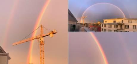 Un sublime double arc-en-ciel a coupé le souffle aux internautes belges
