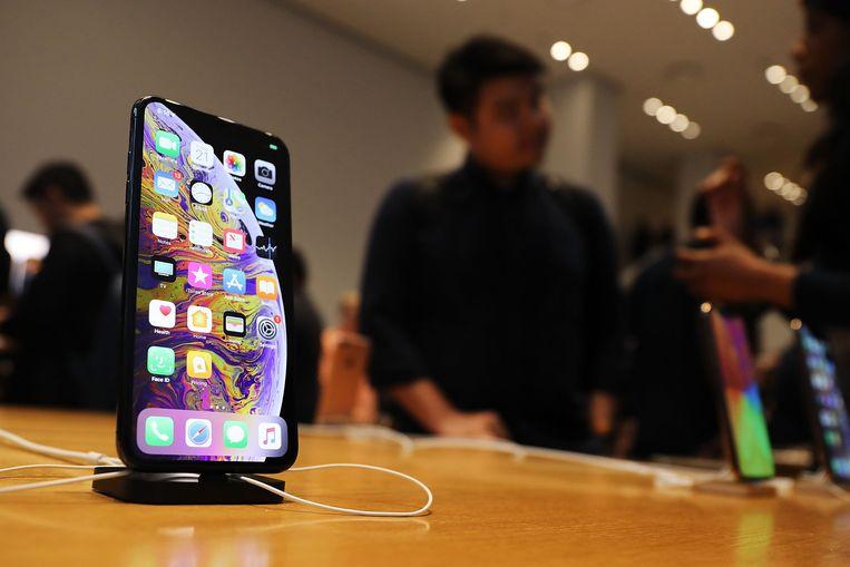 De nieuwe iPhone XS. Iemand die het toestel vandaag koopt, is nog minstens vijf jaar zeker dat het de recentste versie van besturingssysteem iOS zal kunnen draaien.
