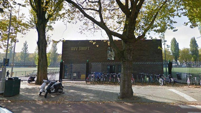 AVV Swift ontvangt woensdag op eigen veld bekerwinnaar Vitesse. Beeld Google Streetview
