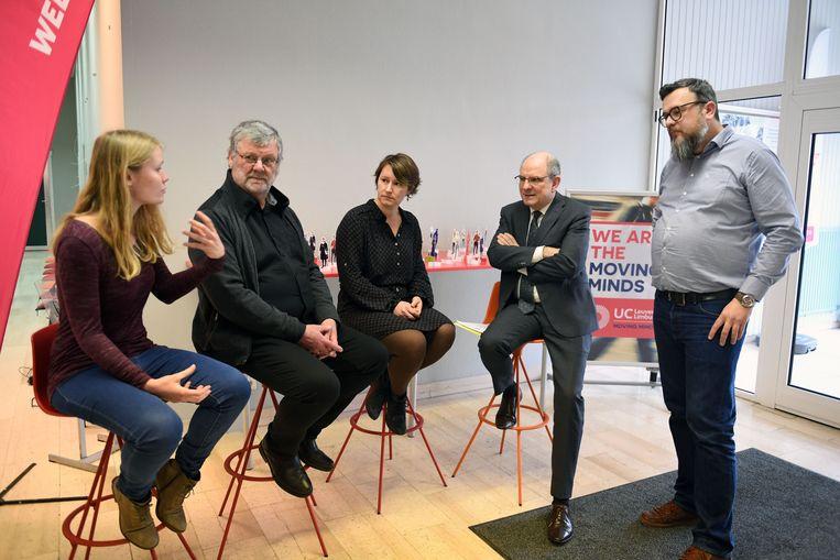 Minister Koen Geens op bezoek op in de Sociale School in Heverlee.