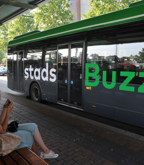 Steen door ruit rijdende lijnbus in Geesbrug: inzittenden ongedeerd