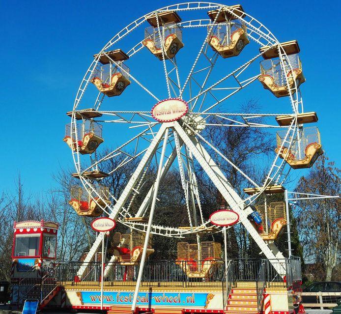 Het reuzenrad dat speciaal voor de voorstelling Radman naar Roosendaal komt.