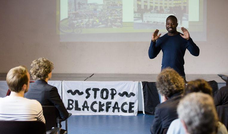 Antizwartepietactivist Jerry Afriyie blikt terug op de campagne 'zwarte piet is racisme'. Beeld anp