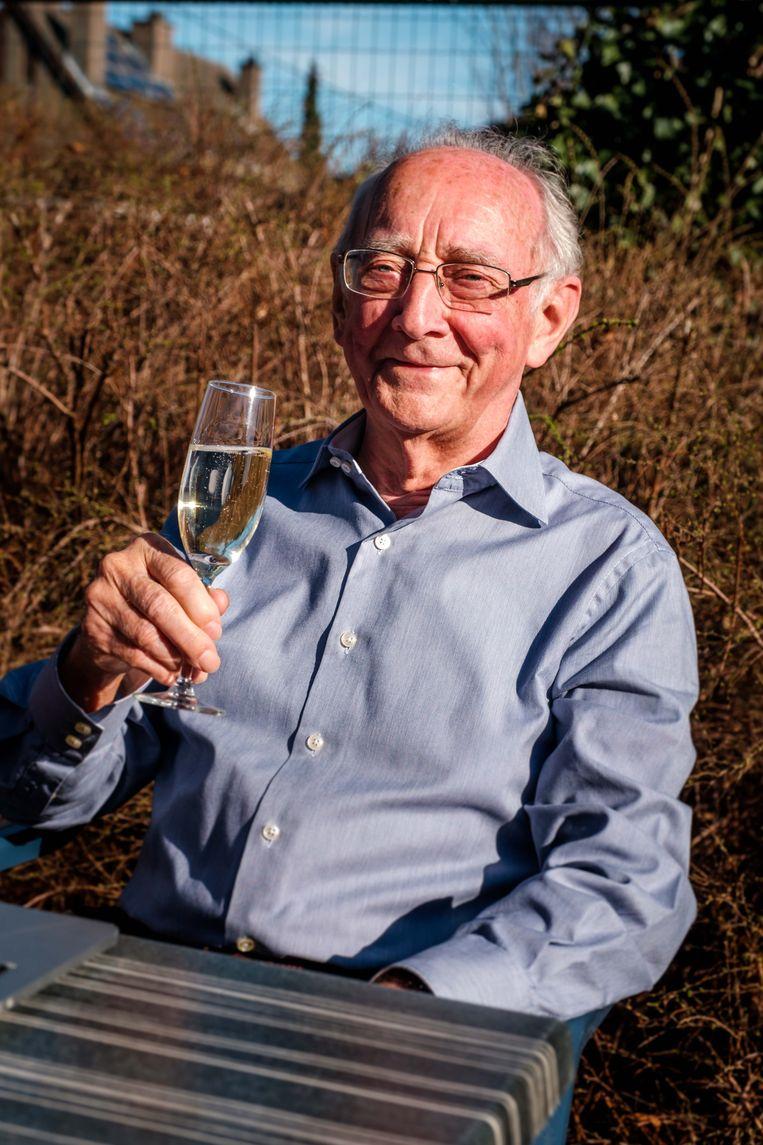 2019/02/26, Wommelgem, Belgium. Fons Van Den Eynde (80) stopt als computerlesgever aan senioren. Hij deed het jarenlang.