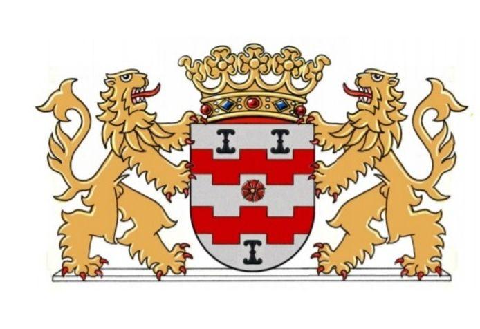 Dit is het gemeentewapen van Vijfheerenlanden zoals de Hoge Raad van Adel het in januari 2020 vaststelde.