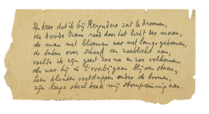 Dichtregels Ed Hoornik Uit Kamp Vught Ontdekt Den Bosch