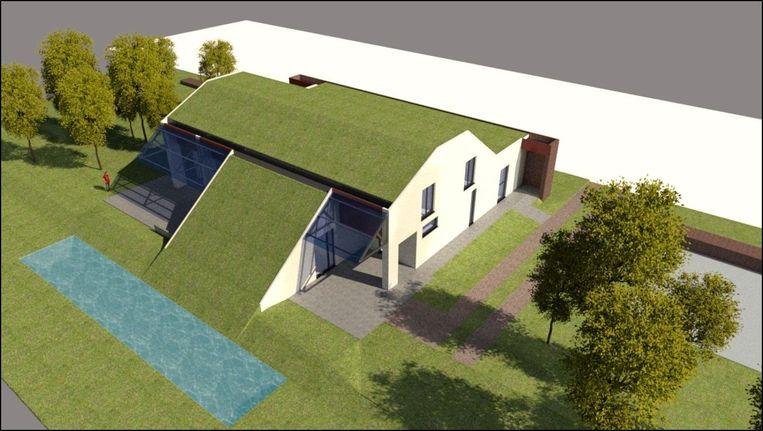 simulatie van het nieuwe horecagebouw voor het Fort Liefkenshoek