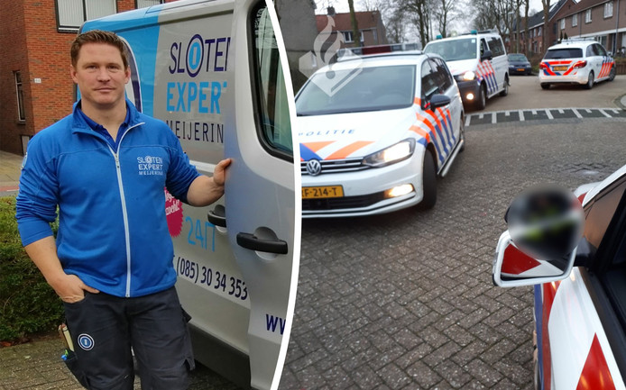 Maarten van der Heijden werd ineens omringd door politie.