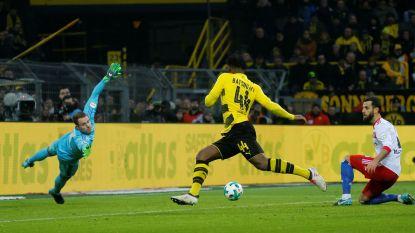 Nummer drie in twee matchen: met deze goal schaart Batshuayi zich meteen in illuster rijtje