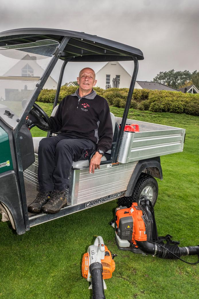 Cees Vermeulen op 'zijn' golfbaan.