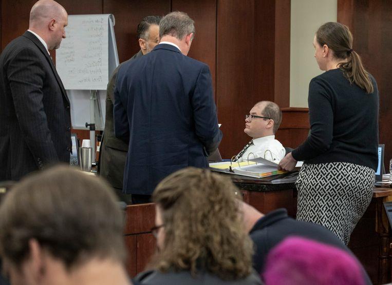 Timothy Jones in de rechtszaal gisteren.