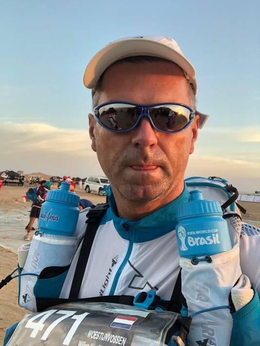 Wiljan van Werkhoven tijdens de Omar Desert Run
