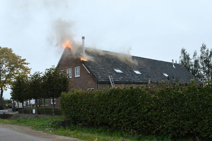 Brand in een woning aan de Laagstraat in Dongen.