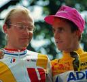 Laurent Fignon (links) en Greg Lemond.