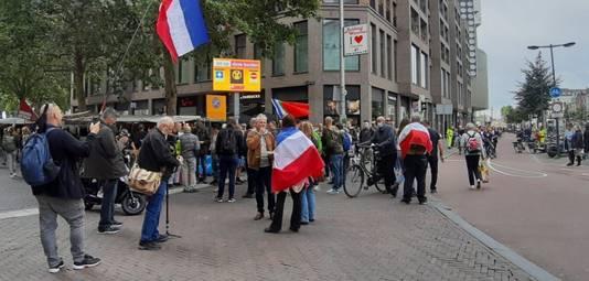 De demonstranten verzamelden zich op het Vredenburg in Utrecht.
