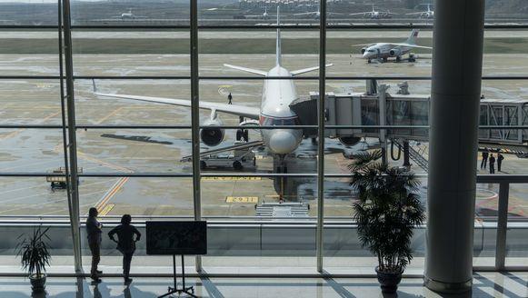 Luchthaven van Pyongyang.