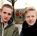 Broers Jeroen en Bas Lindhout.