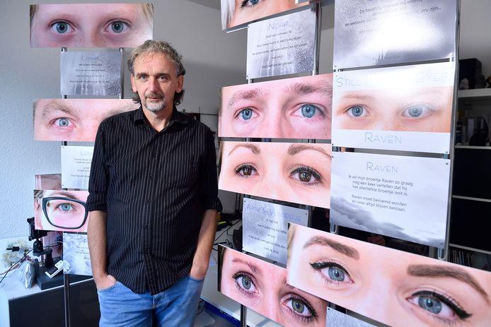 Marcel Kolenbrander maakte de ogenfoto's op het moment dat de ouders intens aan hun kind dachten.