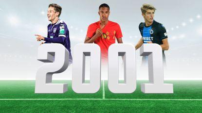 Dit zijn ze dan de 10 béste Belgische jeugdspelers van 2001: met Verschaeren en De Ketelaere, maar ook met keepers van Club en PSV