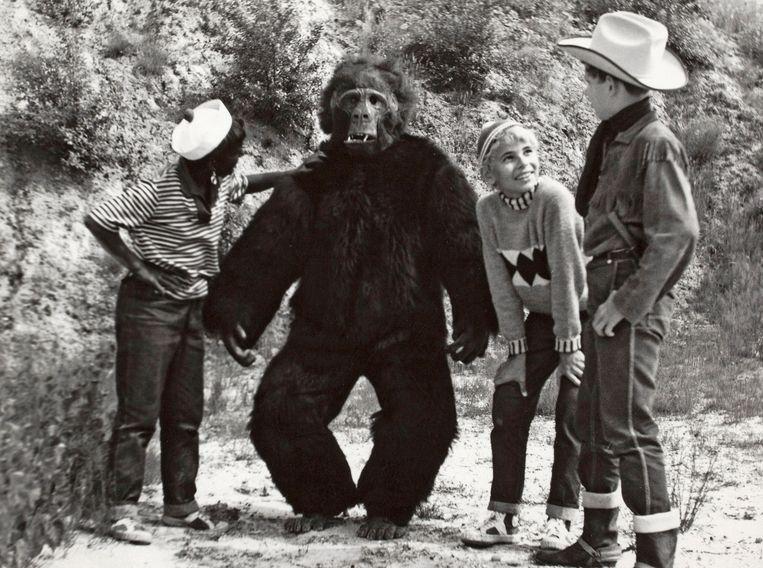 Beeld uit 'Sjors en Sjimmie en de Gorilla' (1965). Beeld EYE Film Instituut Nederland