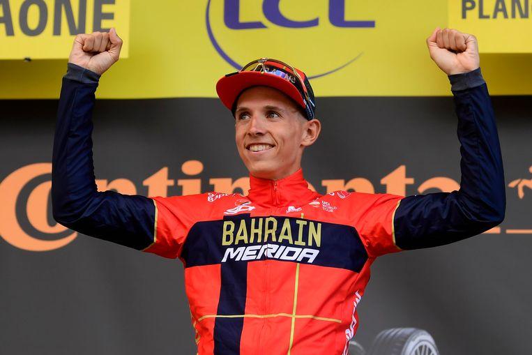 Dylan Teuns won meteen een rit tijdens zijn debuut in de Tour