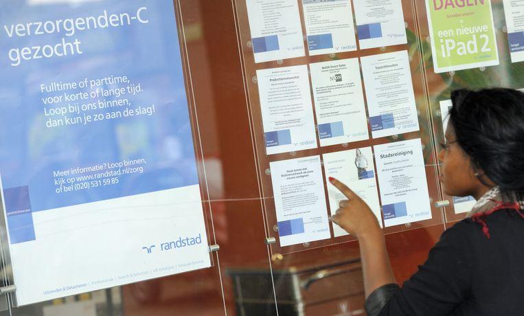 In de maanden december, januari en februari vonden 124 duizend mensen een baan. Beeld anp