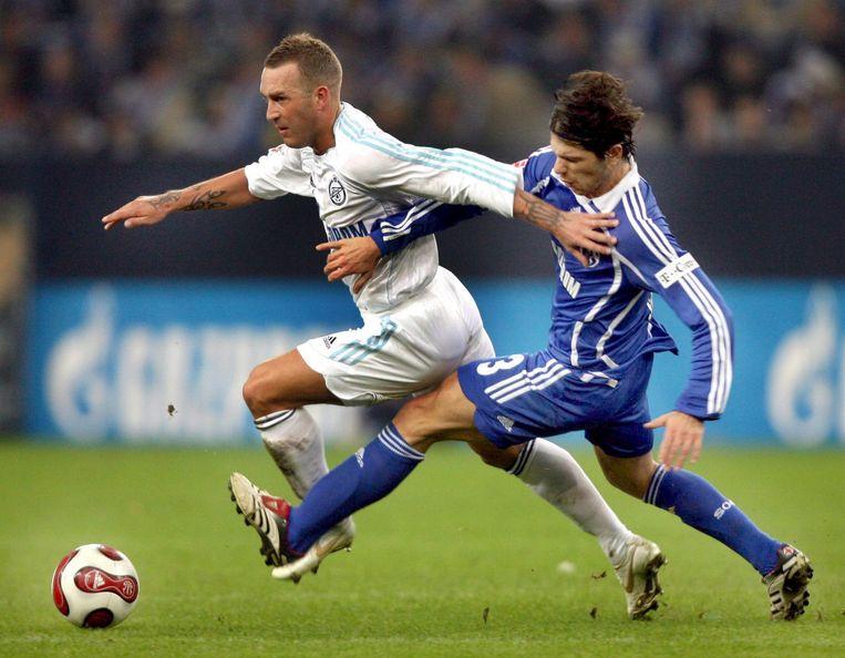 Met Zenit St. Petersburg won Ricksen (links) in 2008 de Europa League. Beeld EPA