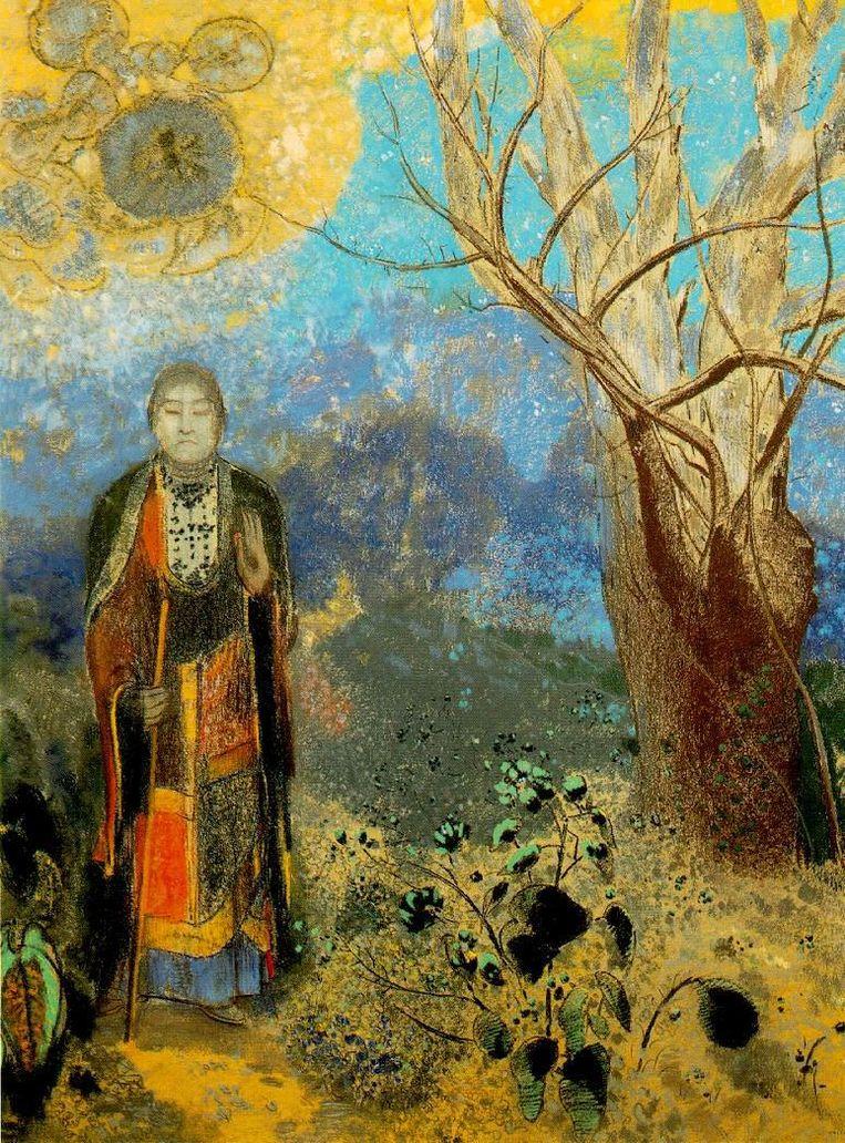 Odilon Redon - Boeddha onder de boom (1906). Beeld