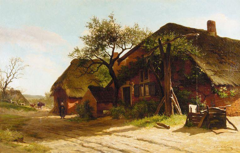 Landschap met boerderij te Dongen, 1871-1872. Olieverf op doek. Collectie Vereniging Vrienden Stedelijk Museum Breda Beeld J.C.K. Klinkenberg