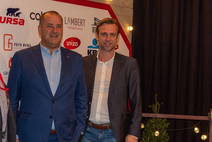 Burgemeester Kurt Vanryckeghem en schepen Kristof Chanterie.