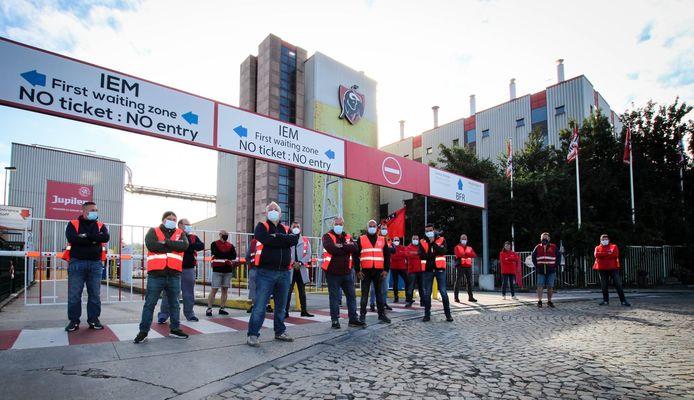 Le site d'AB Inbev à Jupille est à l'arrêt depuis une semaine.